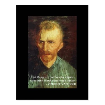 wordstolivebydesign Van Gogh 'Great Things' quote postcard