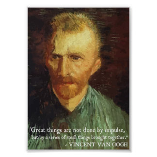 Van Gogh 'Great Things' quote poster