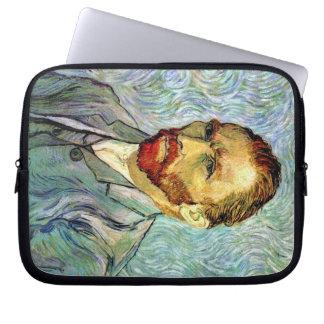Van Gogh - Green Self-Portrait Laptop Computer Sleeve
