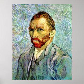 Van Gogh - Green Self-Portrait Poster