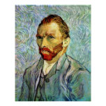 Van Gogh Green Self-Portrait Print