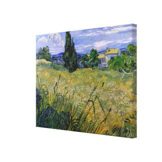 Van Gogh Green Wheat Field with Cypress, Fine Art Canvas Print