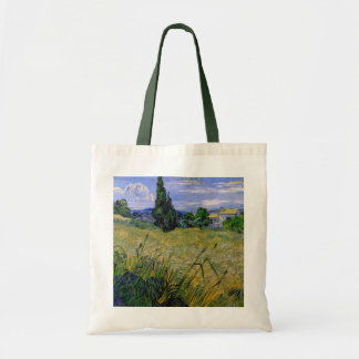 Van Gogh Green Wheat Field with Cypress, Fine Art Tote Bag