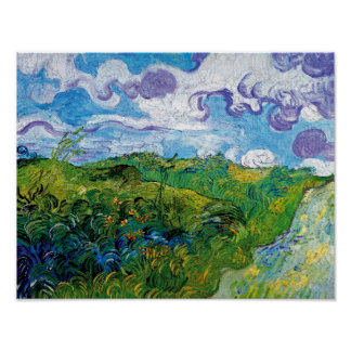 Van Gogh - Green Wheat Fields In Auvers Poster
