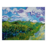 Van Gogh - Green Wheat Fields In Auvers Posters