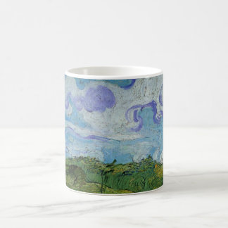 Van Gogh Green Wheat Fields, Vintage Fine Art Coffee Mug