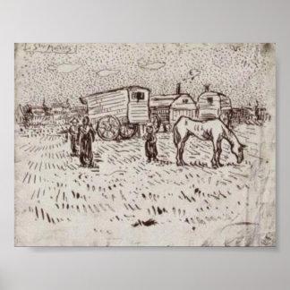 Van Gogh - Gypsies at Saintes-Maries Posters