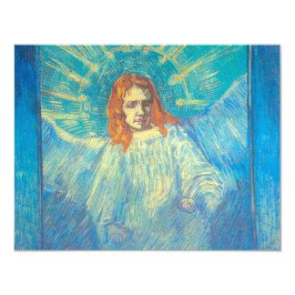Van Gogh; Half Figure of an Angel, Vintage Art Card