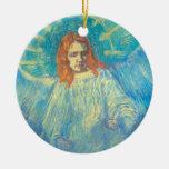 Van Gogh; Half Figure of an Angel, Vintage Art Ceramic Ornament