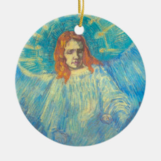 Van Gogh; Half Figure of an Angel, Vintage Art Ceramic Ornament