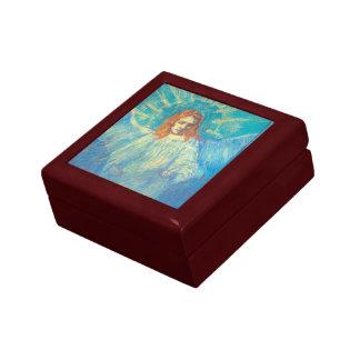 Van Gogh; Half Figure of an Angel, Vintage Art Jewelry Box