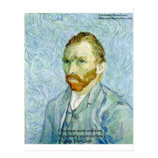 """Van Gogh """"Hard Work"""" Wisdom Quote Gifts & Cards"""