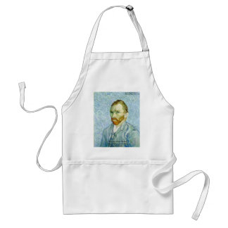 "Van Gogh ""Hard Work"" Wisdom Quote Gifts & Cards Apron"