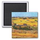 Van Gogh - Harvest at La Crau 2 Inch Square Magnet