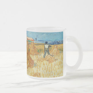 Van Gogh; Harvest in Provence 10 Oz Frosted Glass Coffee Mug