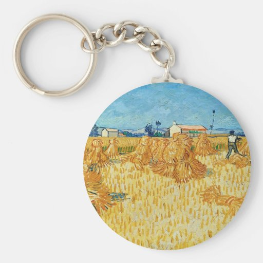 Van Gogh; Harvest in Provence Key Chain