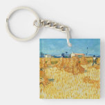 Van Gogh; Harvest in Provence Single-Sided Square Acrylic Keychain