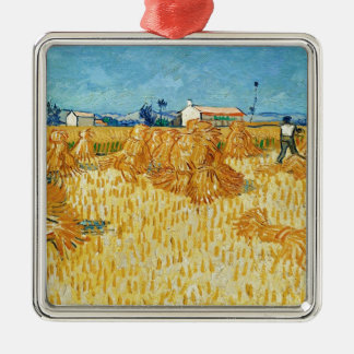Van Gogh Harvest in Provence Christmas Ornament