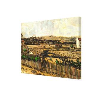Van Gogh Harvest in Provence, Vintage Fine Art Canvas Print