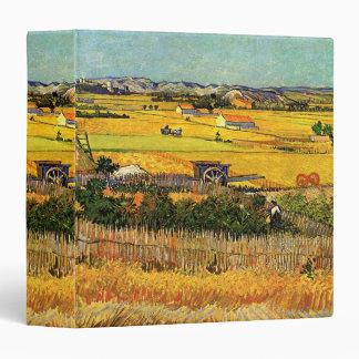 Van Gogh Harvest La Crau, Montmajour, Fine Art 3 Ring Binder