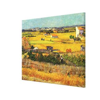 Van Gogh Harvest La Crau, Montmajour, Fine Art Canvas Print