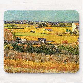Van Gogh Harvest La Crau, Montmajour, Fine Art Mouse Pad