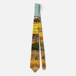 Van Gogh Harvest La Crau, Montmajour, Fine Art Neck Tie
