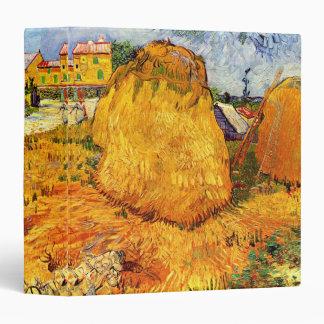 Van Gogh Haystacks in Provence, Vintage Fine Art Binder