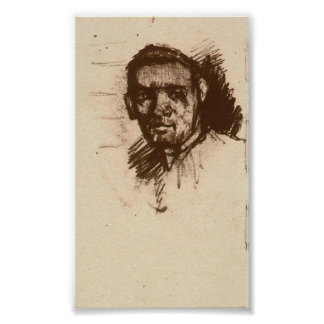 Van Gogh - Head of a Young Man, Bareheaded Posters