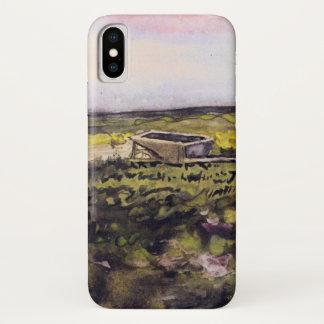 Van Gogh Heath with Wheelbarrow, Vintage Fine Art iPhone X Case