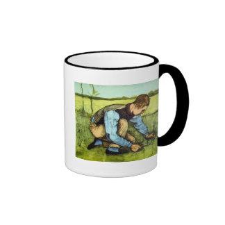 Van Gogh - hierba del corte del muchacho con la Taza