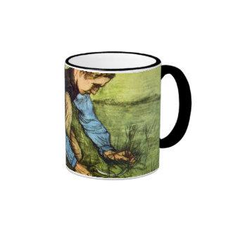 Van Gogh - hierba del corte del muchacho con la Taza De Café
