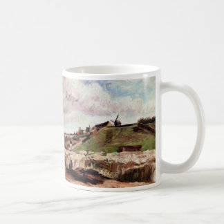 Van Gogh Hill of Montmartre with Quarry, Fine Art Coffee Mug