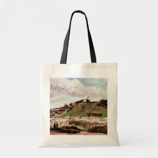 Van Gogh Hill of Montmartre with Quarry, Fine Art Tote Bag