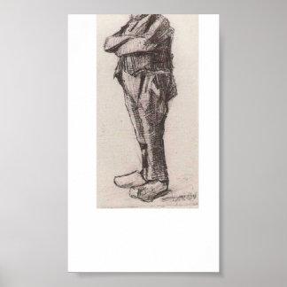 Van Gogh - hombre, colocándose con los brazos dobl Posters