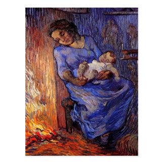 Van Gogh, hombre está en el mar, arte del Postales