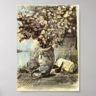 Van Gogh - Honesty in a Vase Posters