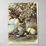 Van Gogh - honradez en un florero Poster