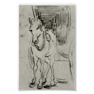 Van Gogh - Horse and Carriage Poster