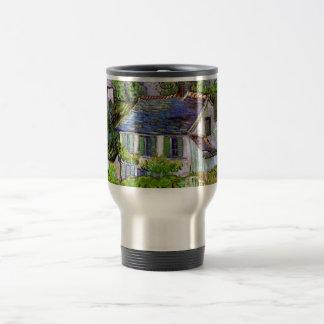 Van Gogh - Houses in Auvers 15 Oz Stainless Steel Travel Mug