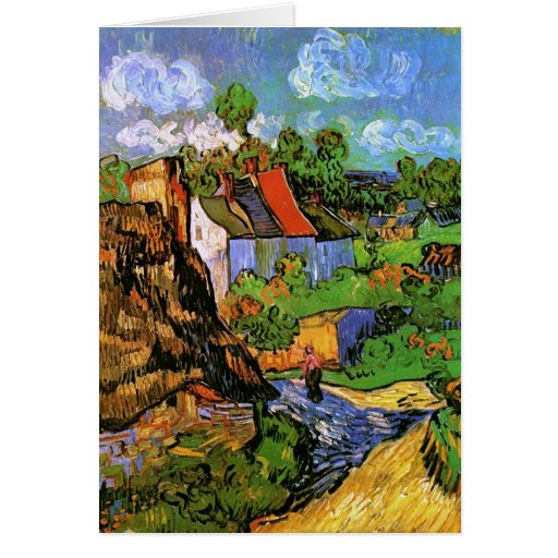 Van Gogh Houses in Auvers (F805) Fine Art Greeting Cards