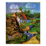 Van Gogh Houses in Auvers (F805) Fine Art Poster
