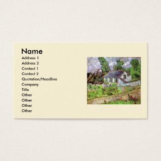 Van Gogh Houses in Auvers, Vintage Fine Art Business Card
