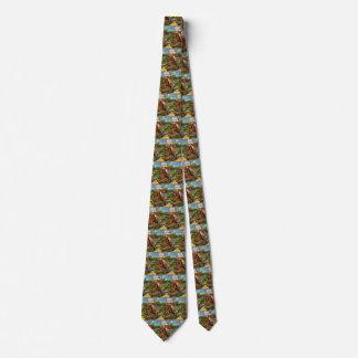 Van Gogh Houses in Auvers, Vintage Fine Art Neck Tie