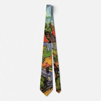 Van Gogh Houses in Auvers, Vintage Fine Art Tie