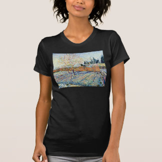 Van Gogh - huerta con los árboles de melocotón en Camiseta