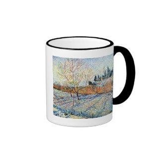 Van Gogh - huerta con los árboles de melocotón en Taza A Dos Colores