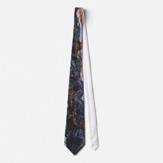 Van Gogh - huerta en la floración con los álamos Corbata