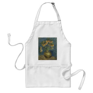 Van Gogh - Imperial Fritillaries in a Copper Vase Adult Apron
