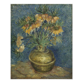 Van Gogh - Imperial Fritillaries in a Copper Vase Photographic Print